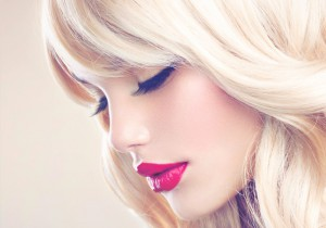 Blondes Echthaar