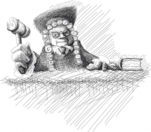 Warum haben Richter eigentlich Perücken auf?